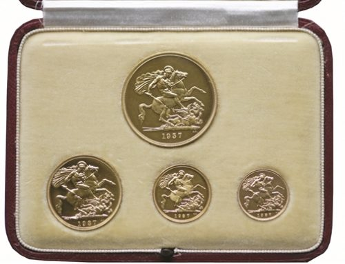 Rare 1937 George VI sovereign set – Sold for £7,200
