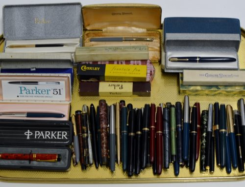 a collection of vintage fountain pens fetches £1,100 …